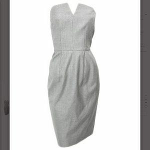 YSL Strapless Grey Dress